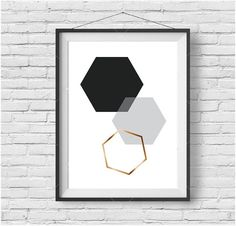Geometric Print Geometric Wall Art Geometric Poster by PrintAvenue