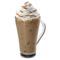 Caramel Iced Coffee made with Monin Caramel Syrup