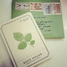 by somethings hiding in here, via Flickr - new stationary by SEED HOUSE - lovely