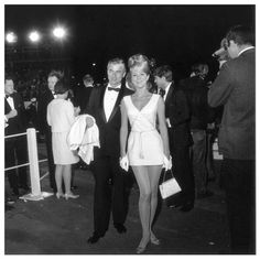 Actress Inger Stevens attending the 39th Annual Academy Awards, Santa Monica, California. April 10, 1967 .Photo by Gene Lester.