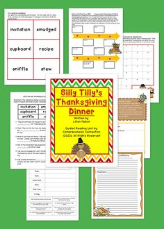 This guided reading unit includes a pre reading schema building activity about Thanksgiving that can be used as a writing word bank later, skill work for sequencing before/during/after reading, story vocabulary activities, character traits, and reading response activities. It's not a large unit, but the pages included would work well to teach and use this book for modeling.