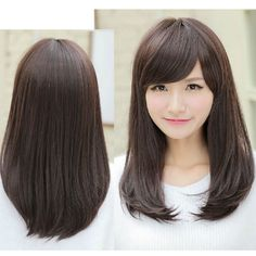 Hairstyles for Straight Hair with Bangs - Bing