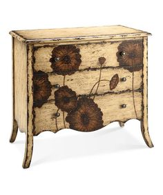 Love this - would like to do this myself.    Take a look at this Antique Cream Poppy Chest by JLA Home on #zulily today!