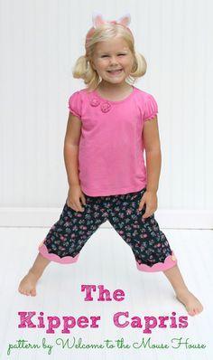 Kipper Capri Pants | Sew Mama Sew |