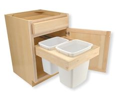 plans for Wooden Laundry bin slide out | Trash Bin Pull-Out Drawer Dimensions