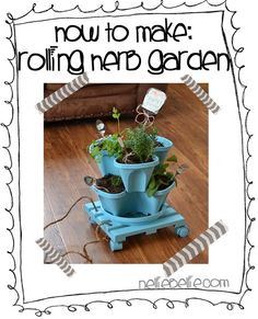 Make A Rolling Herb Garden With Home Depot #digin