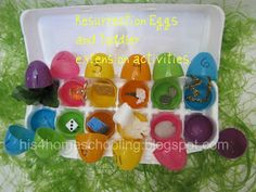 H is for Homeschooling: Resurrection Eggs and Toddler Extension Activities