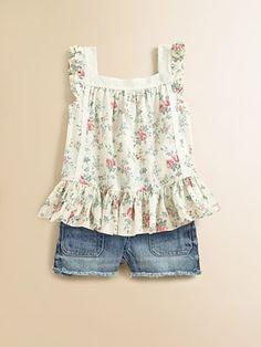 Ralph Lauren - Toddlers Little Girls Floral Lace Blouse - Saks.com