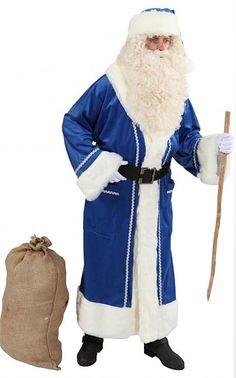 Joulupukin manttelitakki sininen
