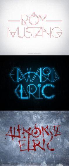Fullmetal Alchemist Typography by rockinrobin.deviantart.com on @deviantART