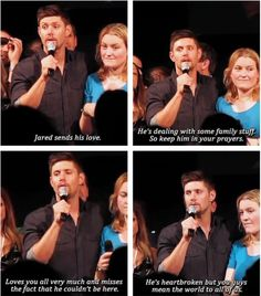 "[SET OF GIFS] ""On a serious note..."" Jensen convention panel #JIB2013"