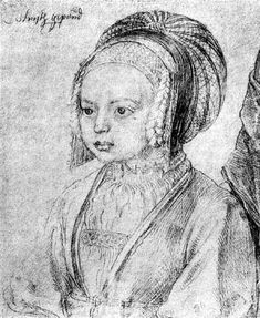 """""""A Young Girl of Cologne"""" by Albrecht Durer (German, 1471-1528)"""