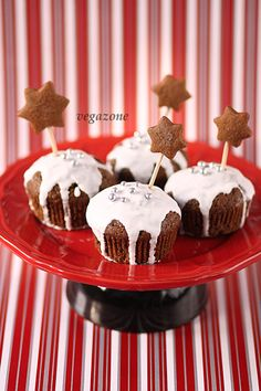 Gingerbread Muffins with Orange Jam