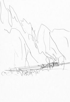 Line Sketch, Conceptual Design, Trees, Sketches, Models, Drawings, Art, Get A Life, Exhibition Space