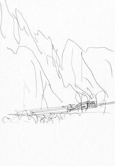 drawing I architect I dessin d'architecte I Álvaro Siza I collection La Galerie d'Archicture