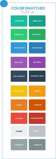 Palette de couleurs pour FLAT DESIGN Réalisés à partir des couleurs proposés par…