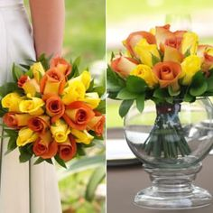 Yellow and orange roses... perfect for the fall!