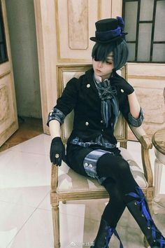 Ciel Cosplay, Cosplay Anime, Cosplay Dress, Cosplay Outfits, Cosplay Costumes, Black Butler Cosplay, Black Butler Ciel, Black Butler Kuroshitsuji, Ciel Phantomhive Cosplay