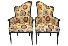 Asymmetrical Chairs,  Pair on OneKingsLane.com