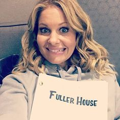 House Is Finally Here! from Fuller House Is Here: Behind-the-Scenes Pics from the Netflix Revival Fuller House Is Finally Here! from Fuller House Is Here: Behind-the-Scenes Pics from the Netflix Revival Candice Cameron, Candace Cameron Bure, Fuller House Cast, Dj Tanner Fuller House, Full House Funny, Netflix Upcoming, Full House Tv Show, Netflix Releases, First Day Of Work