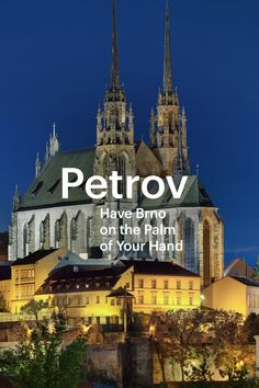 It would be difficult to imagine the panorama of Brno without the two towers of the Cathedral of St. Peter and St. Petrov stands on a hill in the historical centre of the city and welcomes all visitors to the city from afar. The Two Towers, Czech Republic, Entryway Decor, Countryside, Cathedral, Tourism, Centre, Mansions, Architecture