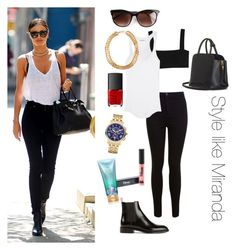 Style like Miranda Kerr by zoekozlo on Polyvore featuring Étoile Isabel Marant, Valentino, Miss Selfridge, Yves Saint Laurent, BEGA, Michele, SELECTED, Thierry Lasry, Victoria's Secret and NARS Cosmetics
