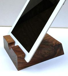 Solid Walnut Wood iPad Stand by Sean Alan Designs on Scoutmob Shoppe