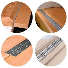 Add piano hinges to your playlist of woodworking hardware.You don't need to be a pianist to appreciate the beauty of a piano hinge. This hard-working hardware can do … Project Steps, Barn Wood Projects, Diy Home Repair, Wooden Bird, Beginner Woodworking Projects, Rustic Barn, Hardware, Remove Paint, Sticker Shock