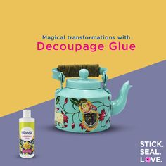 Pichwai is one of the most ancient and spectacular forms of art in India. Transform your kettle into a beautifu. Pottery Painting Designs, Paint Designs, Bottle Painting, Bottle Art, Indian Illustration, Decoupage Glue, Different Forms Of Art, Acrylic Colors, Craft Tutorials