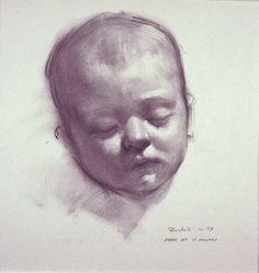 David Shevlino ~ Adam at 13 months, 1999 (charcoal)
