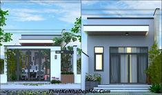 Nhà cấp 4 đẹp 5x20 mới nhất 2019 My House Plans, Happiness, Windows, Outdoor Decor, Home Decor, Modern Houses, Trendy Tree, House, Decoration Home