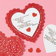 perfect for sunday school/children church For God So Loved The World valentine