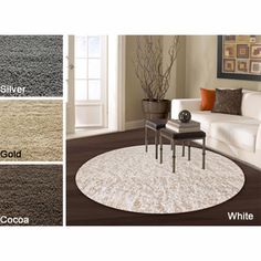 @Overstock - Soft and plush and with pile made from acrylic yarn. Alexa rug construction is sturdy and can stand the test of time. This shag area rug makes a fun addition to any fashionable space.http://www.overstock.com/Home-Garden/Alexa-My-Soft-and-Plush-Shag-Rug-8-Round/5952074/product.html?CID=214117 $194.64