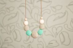Mint Julep Teether / Nursing Necklace