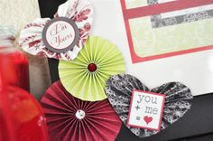 Create accordion hearts + circles for your projects!