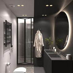 Cosy decor ideas including mellow colour palettes, wood wall panels, textured tiles, and a warm lighting scheme that uses perimeter LEDs and modern lighting. Bathroom Interior Design, Home Interior, Decor Interior Design, Interior Decorating, Design Bedroom, Peach Bathroom, Modern Bathroom, Small Bathroom, Brown Bathroom