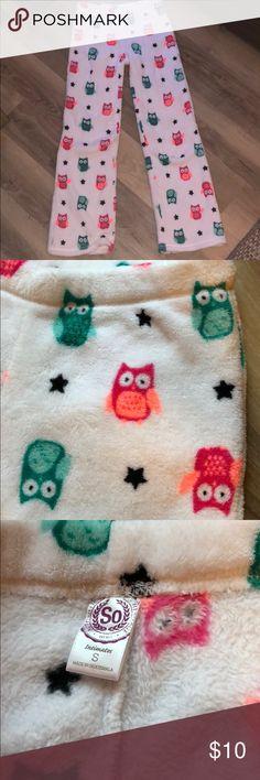 Owl print pajama pants Super soft! This plush fabric inside makes for the comfiest sleep pants around! SO Intimates & Sleepwear Pajamas