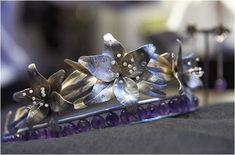 Tiara Thursday: The Flora Danica Tiara_ worn by Princess Marie.
