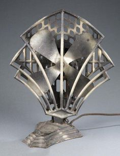 Gorgeous! 1930s Robbins & Myers Electric Art Deco Fan via Art Deco on Facebook.