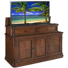banyan creek xl tv lift cabinet by finished in a
