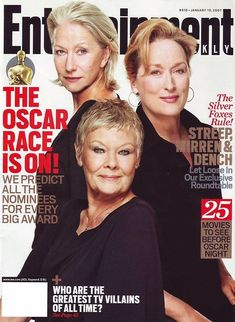 Imagem de Helen Mirren, meryl streep, and judi dench