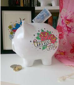 Tattoo Fund hand painted Piggy Bank £20.00