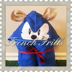 Hedgehog hooded towel design. #Embroidery #Applique