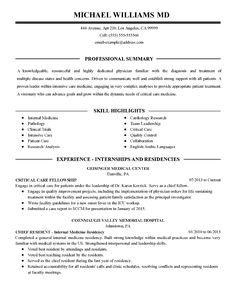15 Medical Resume Template Ideas Medical Resume Template Medical Resume Resume Template