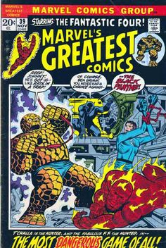 Marvel's Greatest Comics #39. Fantastic Four #52 featuring Black Panther, Wyatt Wingfoot