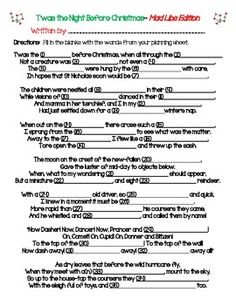 christmas mad libs change words to include bride and groom holiday games holiday activities - Christmas Mad Libs For Adults