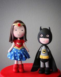 Superheroes ✨ #mutludukkan #butikpasta #sekerhamuru #sugarart Cake Toppers, Fondant, Cupcake, Hello Kitty, Christmas Ornaments, Bats, Holiday Decor, Characters, Sugar