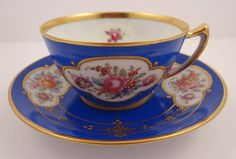 Antique Lamm Dresden Teacup & Saucer
