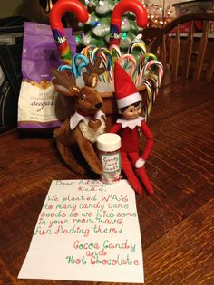 Elf on the Shelf Candy Cane Seeds The Elf, Cocoa, and his reindeer friend Candy decided to share some magic candy cane seeds. He plants them in sugar and in the morning you have a bunch of delicious candy canes. Can you find them all?