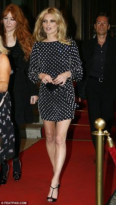 Kate Moss in black & crystal mini dress by Marc Jacobs.